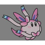 Kirby Sylveon Pokemon Embroidery Design