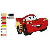 Lightning McQueen Disney Cars Embroidery Design