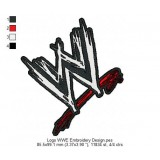 Logo WWE Embroidery Design