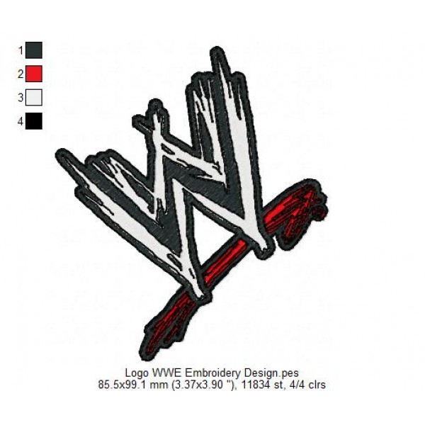 Logo Wwe Embroidery Design
