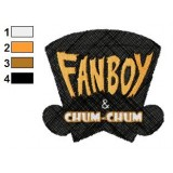 Logo of Fanboy and Chum Chum Embroidery Design