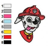Marshall Nick Jr Paw Patrol Embroidery Design