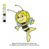 Maya the Bee Embroidery Design