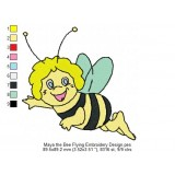 Maya the Bee Flying Embroidery Design
