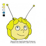 Maya the Bee Head Embroidery Design