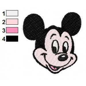 Mickey Mouse Cute Face Embroidery Design