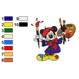 Mickey Mouse Embroidery 15
