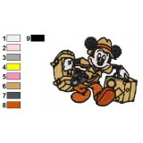 Mickey Mouse Photographer Embroidery Design