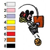 Mickey Mouse Playing Basketball Embroidery Design