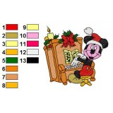 Mickey Mouse Playing the Piano Embroidery Design
