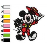 Mickey Mouse Romantic Embroidery Design