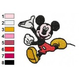 Mickey Mouse Runs Embroidery Design