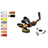 Mickey Mouse Skating Embroidery Design