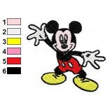 Mickey Mouse So Cheery Embroidery Design