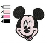 Mickey Mouse Winks Embroidery Design