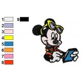 Mickey Mouse Writing Embroidery Design