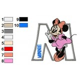 Minnie Mouse Alphabet Embroidery Design