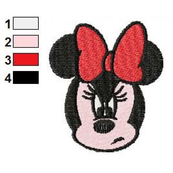 Minnie Mouse Angry Face Embroidery Design