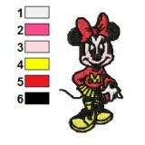 Minnie Mouse Student Embroidery Design
