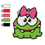 Miss OmNom Embroidery Design