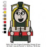 Molly The Tank Engine Embroidery Design 02