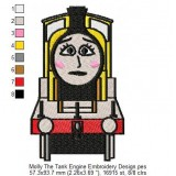 Molly The Tank Engine Embroidery Design