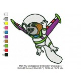 Mort Fly Madagascar Embroidery Design
