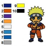 Naruto Shippuden Kid Embroidery Design