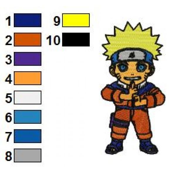 Naruto Shippuden Kid Embroidery Design