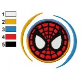 New Logo SpiderMan Embroidery Design