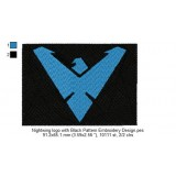Nightwing logo with Black Pattern Embroidery Design