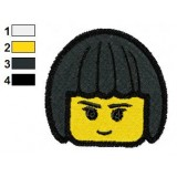 Nya Lego Ninjago Face Embroidery Design