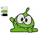 Om Nom Cut The Rope Embroidery Design