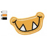 Orange Monster Grin Embroidery Design