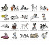 Collection 101 Dalmatians Embroidery Designs
