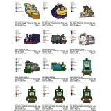 Package 12 Thomas the Train Embroidery Designs