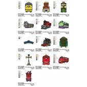 Collection 13 Chuggington Embroidery Designs