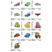 Collection 13 Disney Cars Embroidery Designs 01
