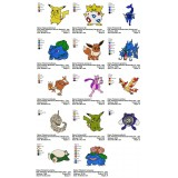 Collection 14 Pokemon Embroidery Designs 01