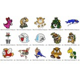 15 Mario Embroidery Designs Collection 02