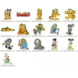 16 Garfield Embroidery Designs Collection 01