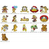16 Garfield Embroidery Designs Collection 02