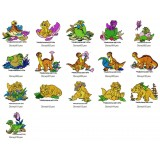 16 Land Before Time Embroidery Designs Collection 01