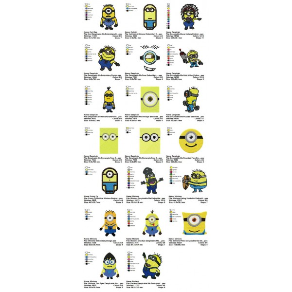 20 Despicable Me Embroidery Designs