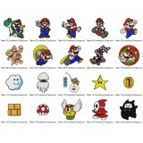 20 Mario Embroidery Designs Collection 01