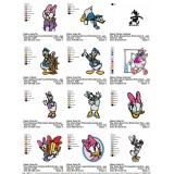 Collection Donald Duck and Daisy Duck Embroidery Designs 01
