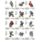 Collection Donald Duck and Daisy Duck Embroidery Designs 04