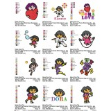 Collection Dora The Explorer Embroidery Designs 03