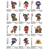 Collection Dora The Explorer Embroidery Designs 04