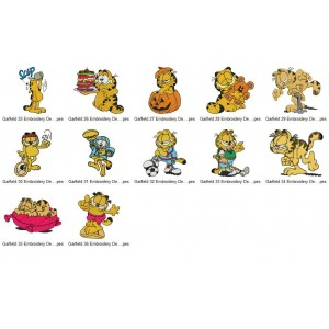 Garfield Embroidery Designs Collection 03